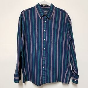 3/$15 Members Only Striped Men's Shirt Large